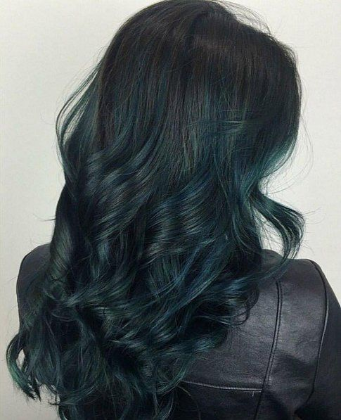 These Dark Green Hair Ideas Will Make You Crave a Moody Mane