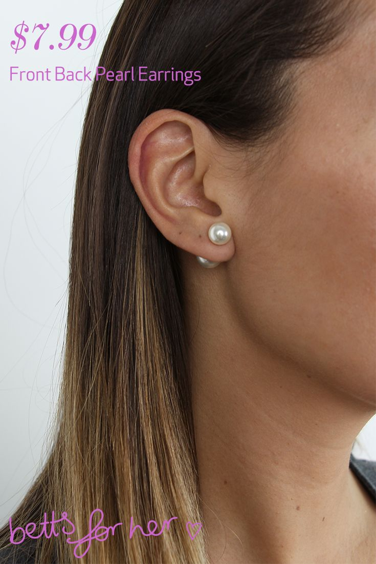 Front Back Pearl Earring $7.99 from the All Eyes On You collection - Betts for Her