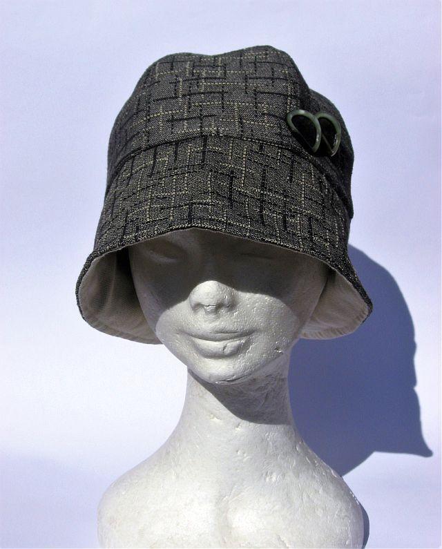 Cappello donna stile cloche anni 30 grigio : Cappelli, berretti di janecolori