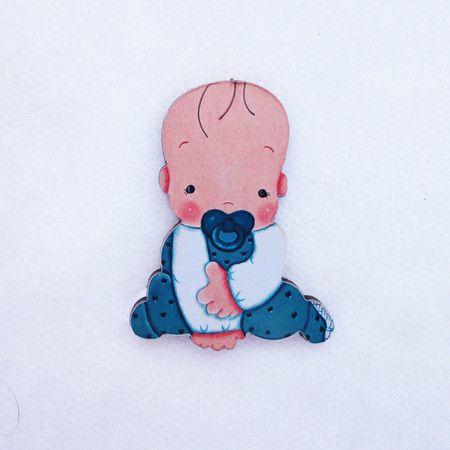 #AD20 - Aplique decorado de bebê com chupeta