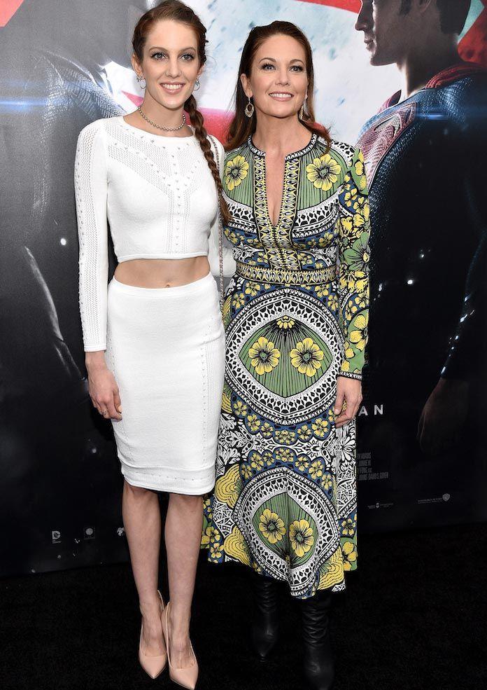 Diane Lane And Daughter #EleanorLambert Make Fashionable Appearance At Batman v Superman: Dawn of Justice Premiere