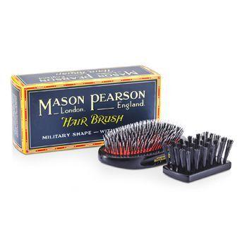 Boar Bristle & Nylon - Medium Junior Military Nylon & Bristle Hair Brush (dark Ruby)