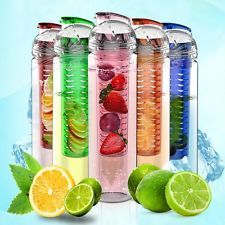 27oz Cold Sports Water Bottle, Fruit Infuser, BPA Free, Multi-Color, Iphone Case