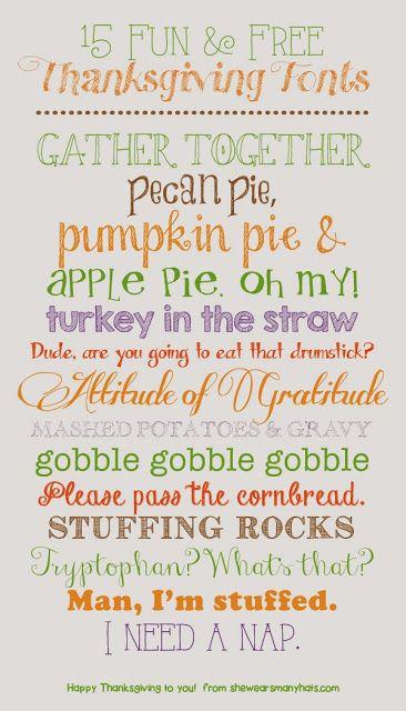 15 Fun & Free Thanksgiving Fonts