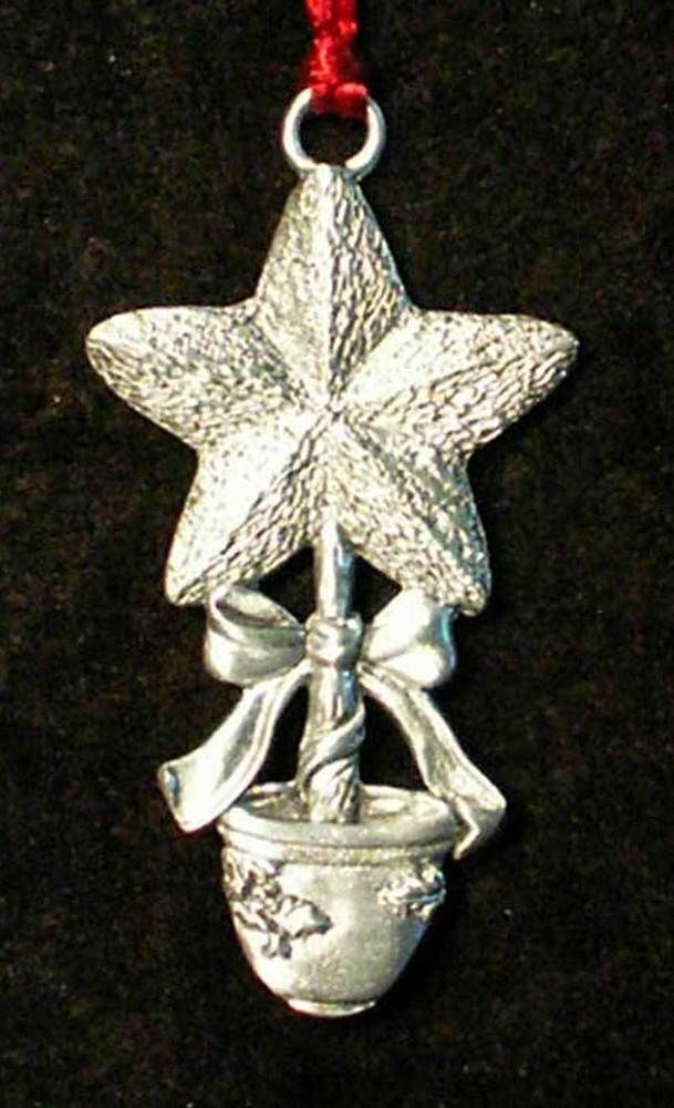 Seagull Pewter Ornament Star Shaped Tree Topiary in Pot 1996 pwt079 #Seagull - Details About Seagull Pewter Ornament Star Shaped Tree Topiary In