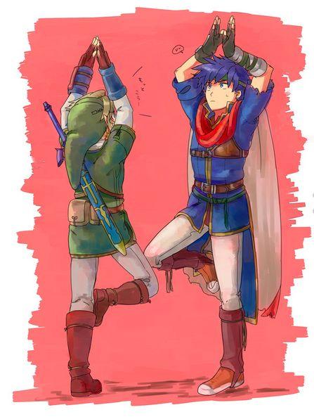 Super Smash Bros. Link and Ike fit | #WiiU