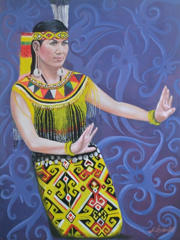Dayak Women Dance. Acrilik On Canvas 80cm x 60cm 2015
