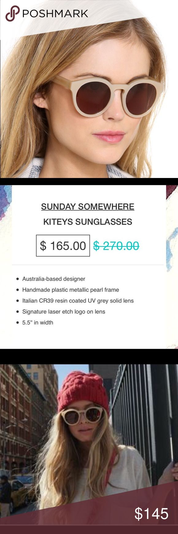 Sunday somewhere Kiteys sunglasses Brand new in original packaging! Item info listed on last photo. No trades. Sunday Somewhere Accessories Sunglasses