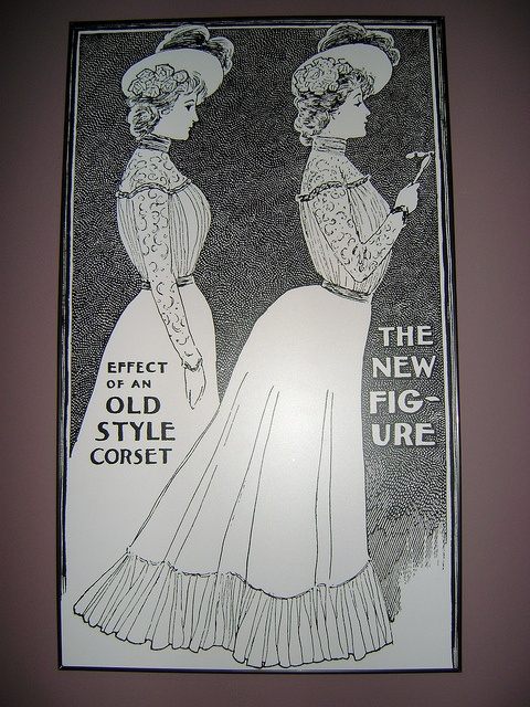 "Advertisement for Coronet Corset Company, from Ladies Home Journal, October 1900. Check out Stlmag.com's ""Look/Listen"" article on the Underneath It All exhibit."