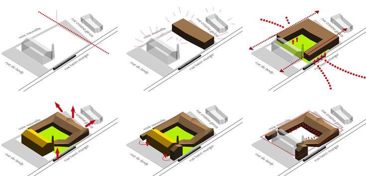 Kindergarten architecture concept google search for Interlocking architecture concept
