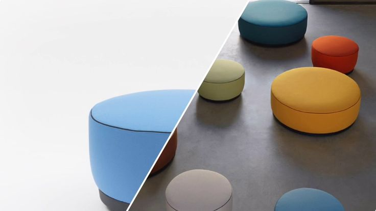 Not only upholstered #seating, tables and partition panel, Agorà collection by Cisotti+Laube Studio also includes #ottomans. Find your favorite on: http://bit.ly/Segis_Agorà
