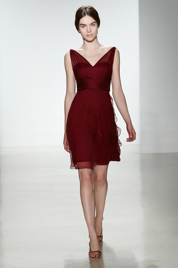 Chiffon cranberry bridesmaid dresses new photo