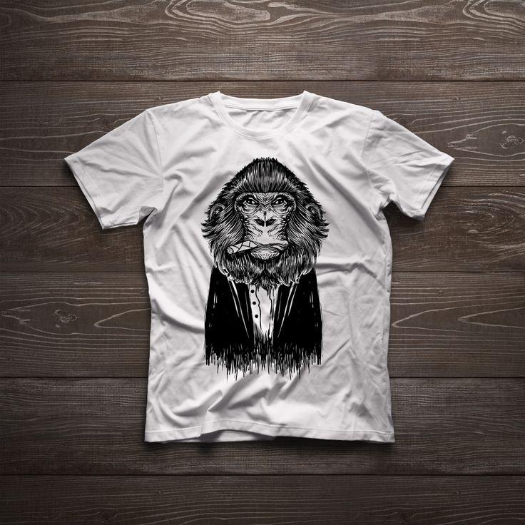 Monkey dapper cigar t-shirt