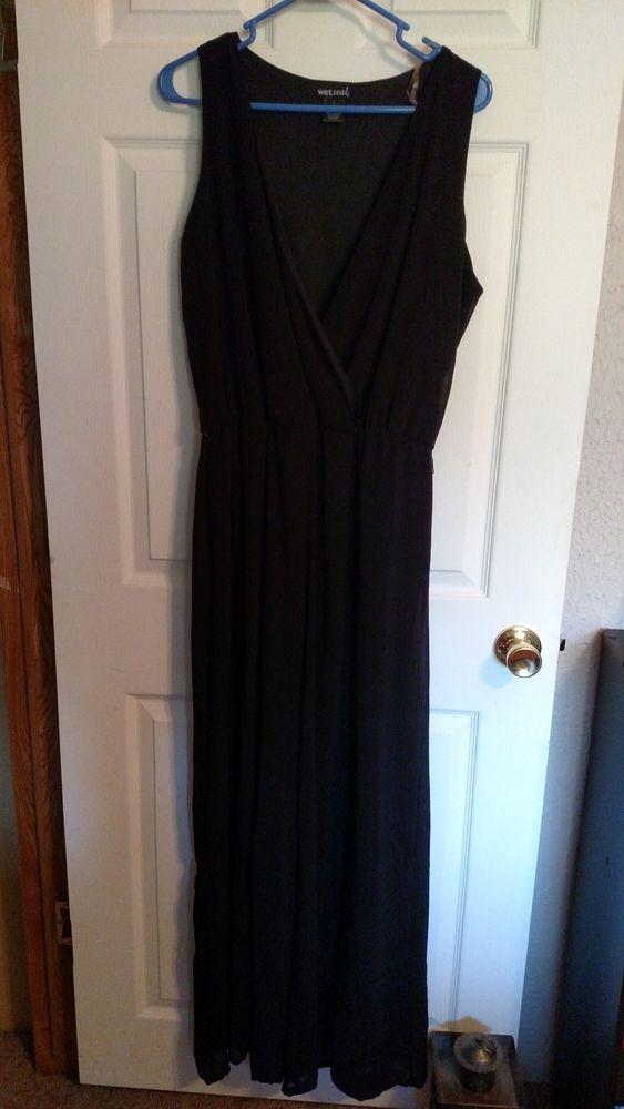 Wet Seal Women Ladies Clubwear Summer Playsuit Jumpsuit Black Size L #WetSeal #Jumpsuit