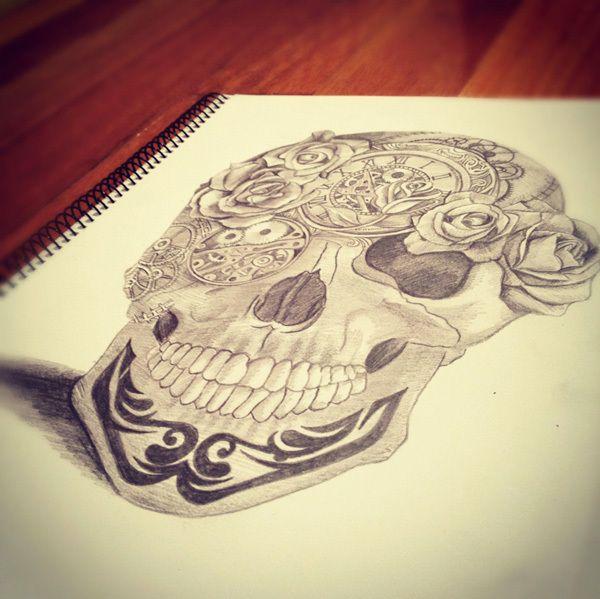 Pin By Christine Jarmer On Tats I Like: Skull Illustration By Christine Calob. Like Any Good