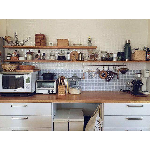 4ldkで 家族の キッチン ナチュラル 北欧 シンプル かご タイルについてのインテリア実例 立春 ほんと 2019 02 04 12 47 33に共有されました リビング キッチン キッチン インテリア 実例