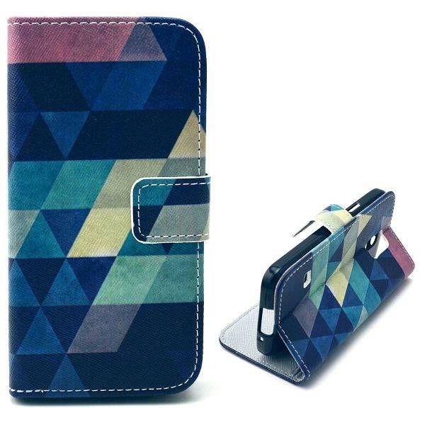 Colorful triangle bookcase voor Samsung Galaxy S5 mini