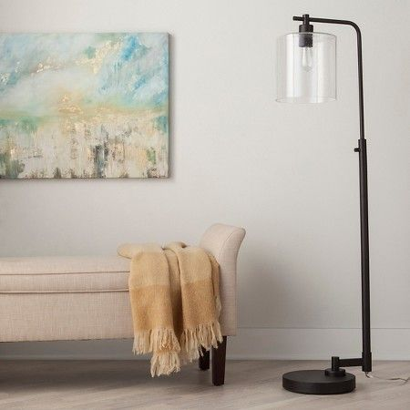 Would place in front of window next to couch-Hudson Industrial Floor Lamp - Ebony -Threshold™