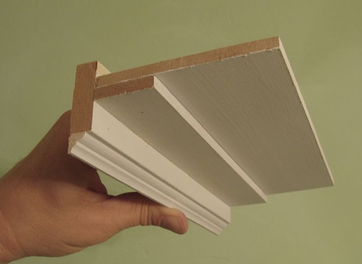 flat crown molding -love this idea for not only the simplicity but it's going to make things look taller )