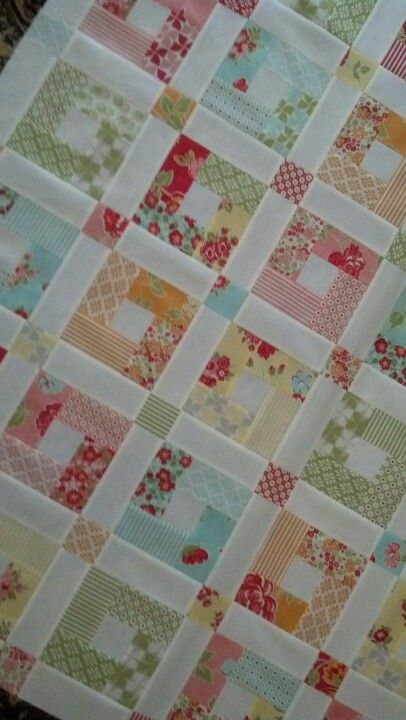 Button box by cabbage rose in marmalade - this is the sweetest quilt ever!