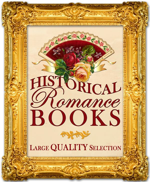 A large collection of historical romance books