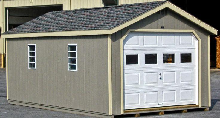 1-Car Prefab Garage | Horizon Structures