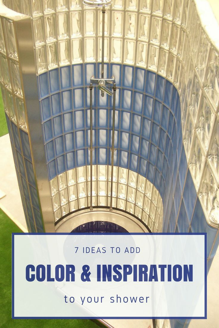 7 things you can do to add inspiration, color and personopoly to your  shower. Glass Block ...