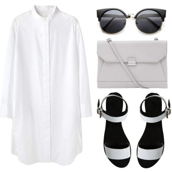 """Look 19 - B/W"" by splashthestyle on Polyvore polyvore, fashion set, fashion, ootd, collage, minimal, outfit"