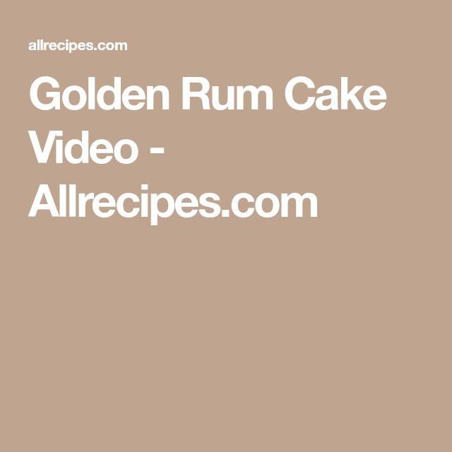 Golden Rum Cake Video - Allrecipes.com