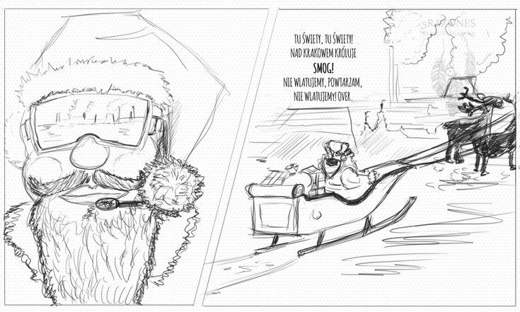 #smog #kraków #mikołaj #stopsmog Krakowskie, kochane dzieci, tej zimy Święty do Was nie doleci.