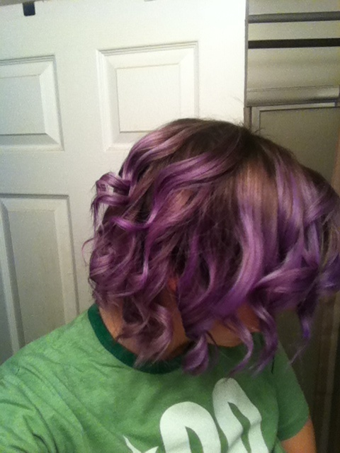 Ombr 233 On Short Hair And Obvi Purple Ombre Shorthair