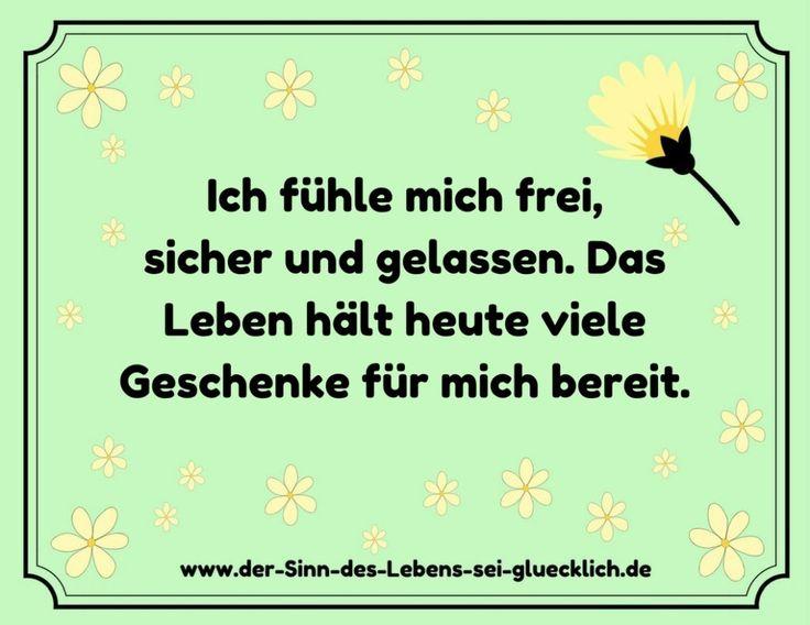 Macht der Gedanken: #Affirmation #Angst #frei #Leben