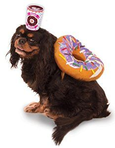 Amazon.com : Donut and Coffee Pet Suit, Small : Pet Supplies