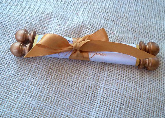 Gold Wedding Invitation classic wedding by ArtfulBeginnings