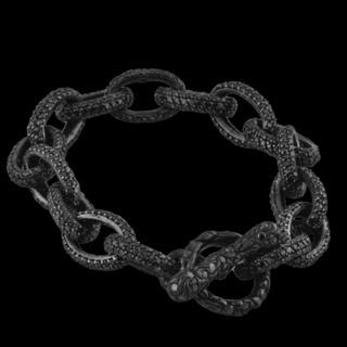 Oval Link Black Diamond Bracelet :: Black Diamond Bracelets :: Bracelets :: Versani