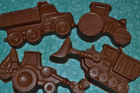 Chocolate Heavy Equipment, dump truck, boys party construction party on Etsy, $18.00