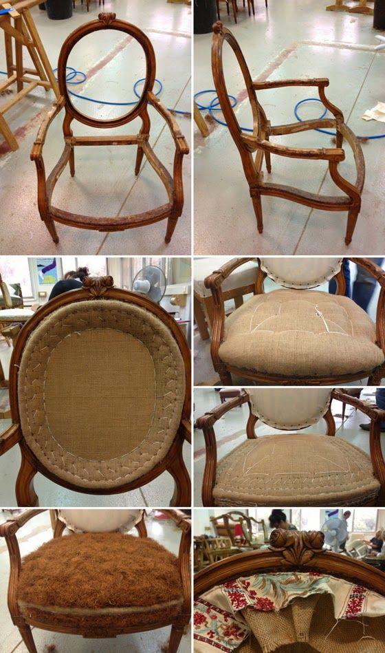 17 meilleures id es propos de chaises rembourrage sur pinterest chaises rembourr es housse. Black Bedroom Furniture Sets. Home Design Ideas
