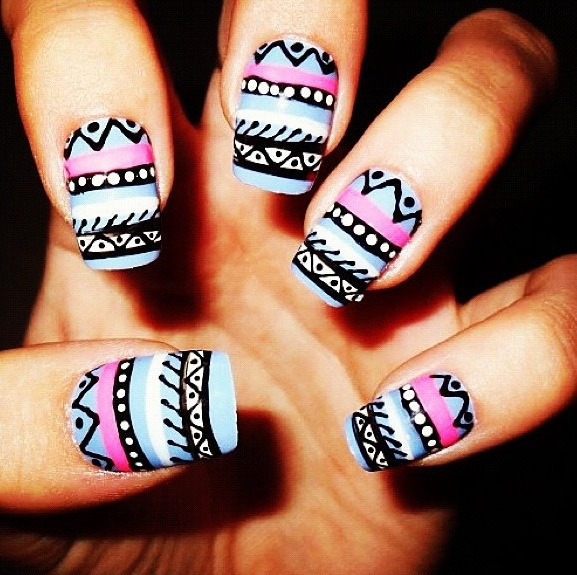 Tribal nails. #impossible