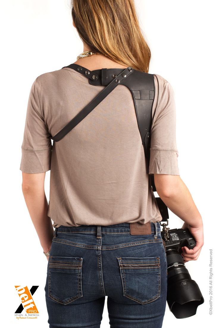 XbeltPro leather straps and harness for photographers. You can carry 1,2 or 3 cameras comfortabily.