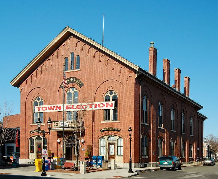 Andover Town Hall in Massachusetts.
