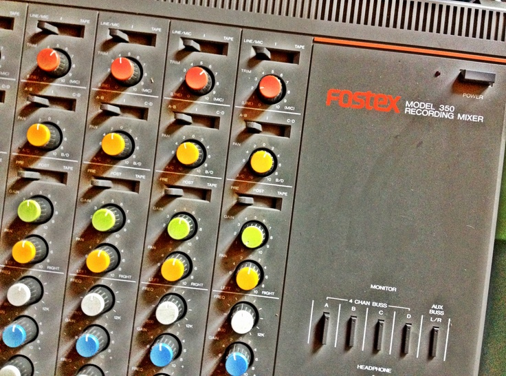 Fostex Model 350 recording mixer, we've come a long way, baby...