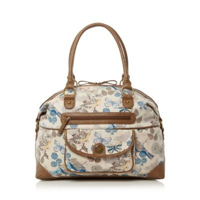 Mantaray Natural bird and butterfly weekender bag- at Debenhams.com