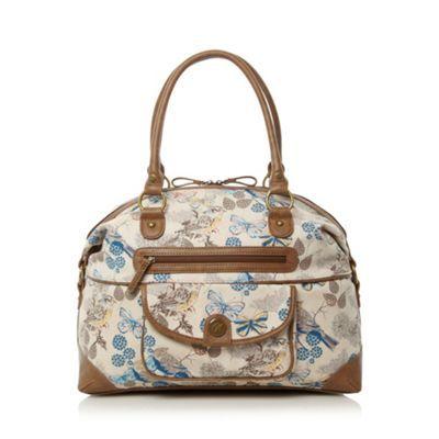 Mantaray Natural bird and butterfly weekender bag- at Debenhams.com