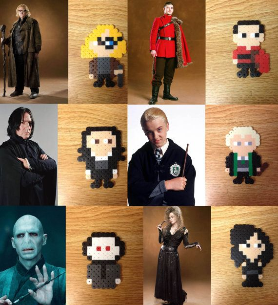 Harry Potter Characters Perler Beads Pin/Magnet by AnimezingShop