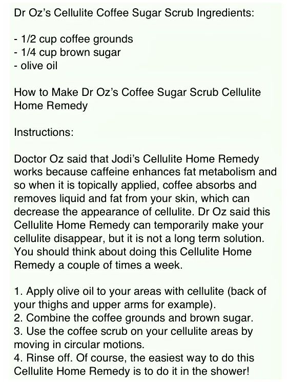 Home Remedy for Nasty Cellulite