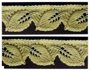 Edgings Knitting Stitches : 1000+ images about knitted lace on Pinterest