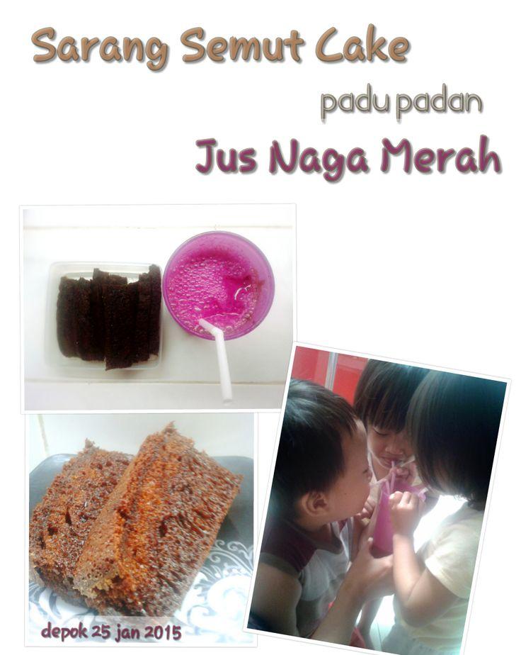 sweet for kids: Sarang Semut Cake padu padan Jus Naga Merah