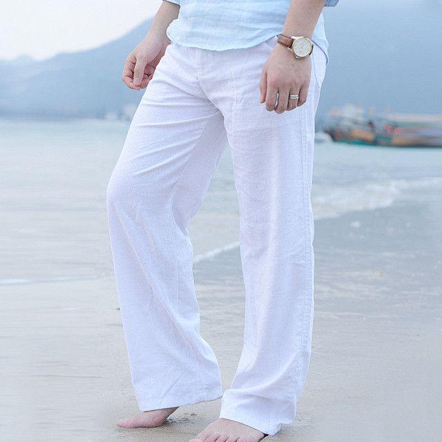 Men's Summer  Natural  Linen Pants