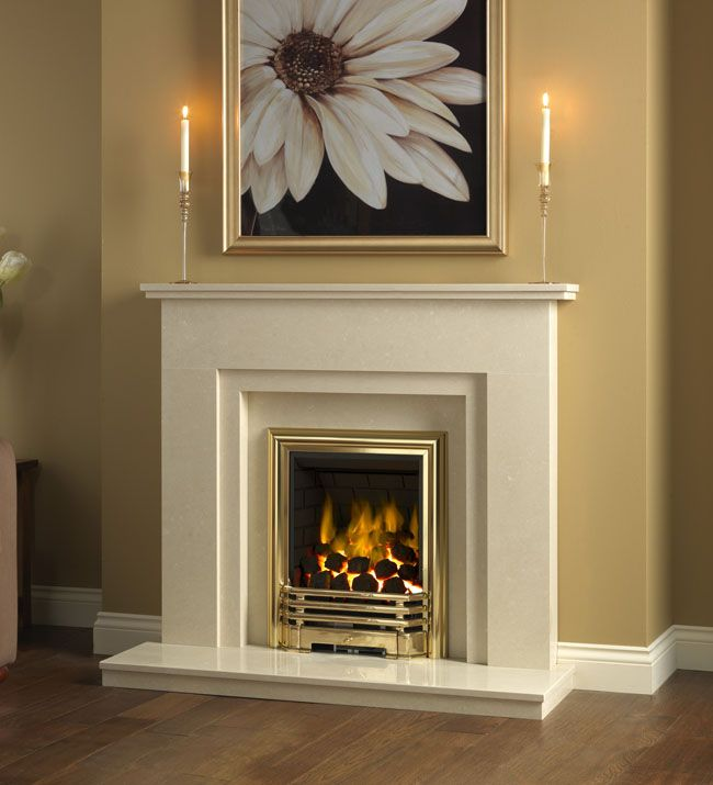 Be Modern Clara Marble Fireplace