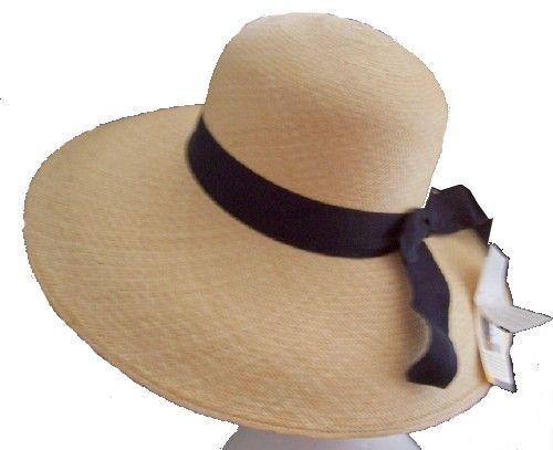 eleganter original Panama Damen Sommer Hut natur verschiedene Modelle M 57 58